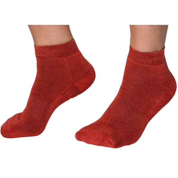 PandaBare Red Bamboo Ankle socks
